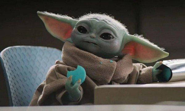 Baby Yoda biscotti blu The Mandalorian