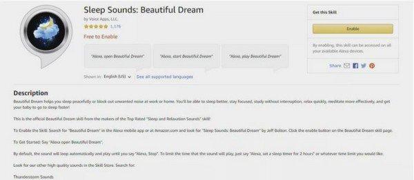 Sleep Sound Alexa
