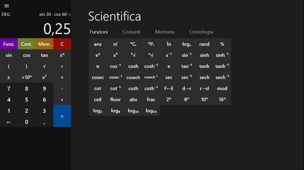 Calcolatrice Scientifica per Windows Phone