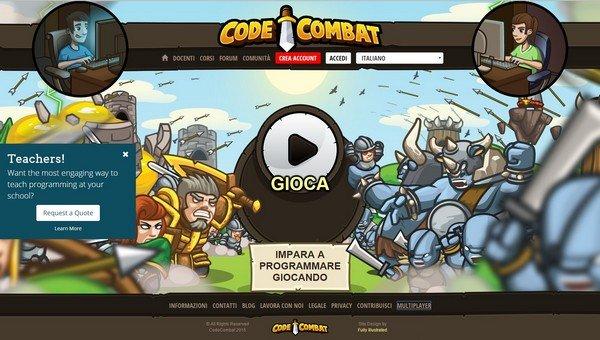 Code Combact per insegnare a programmare ai bambini