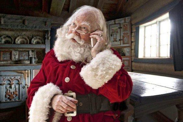 Babbo Natale che telefona al tuo bambino