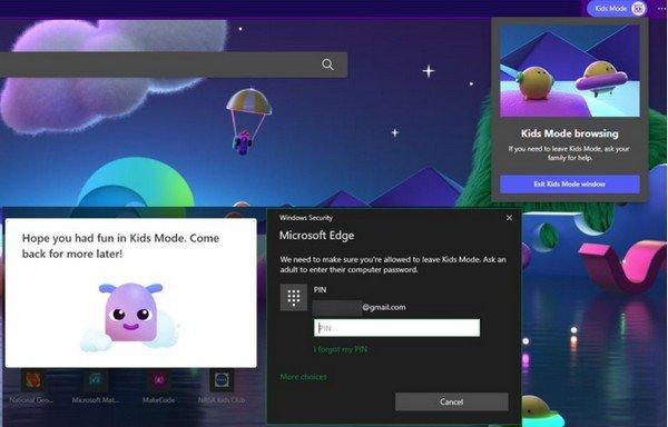 Modalità Bambini Microsoft Edge